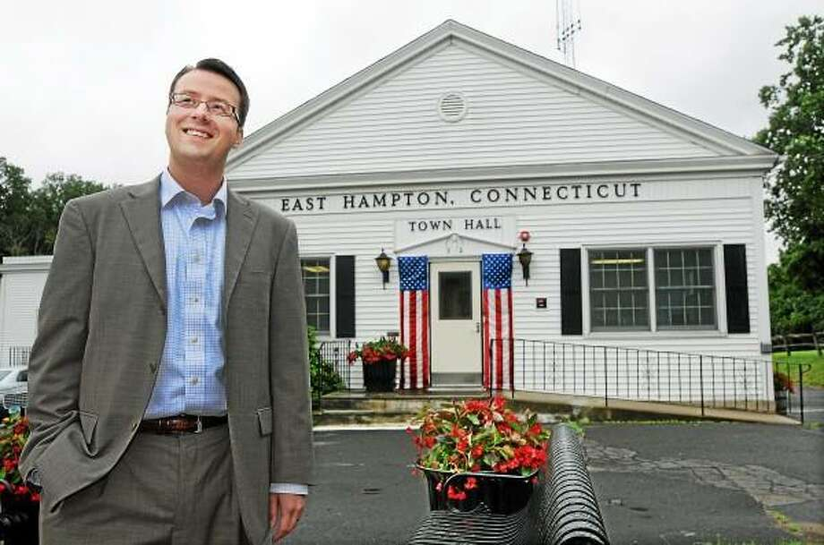 East Hampton resident Michael Maniscalco completed his first year as East Hampton's Town Manager on July 9.. Catherine Avalone - The Middletown Press / TheMiddletownPress