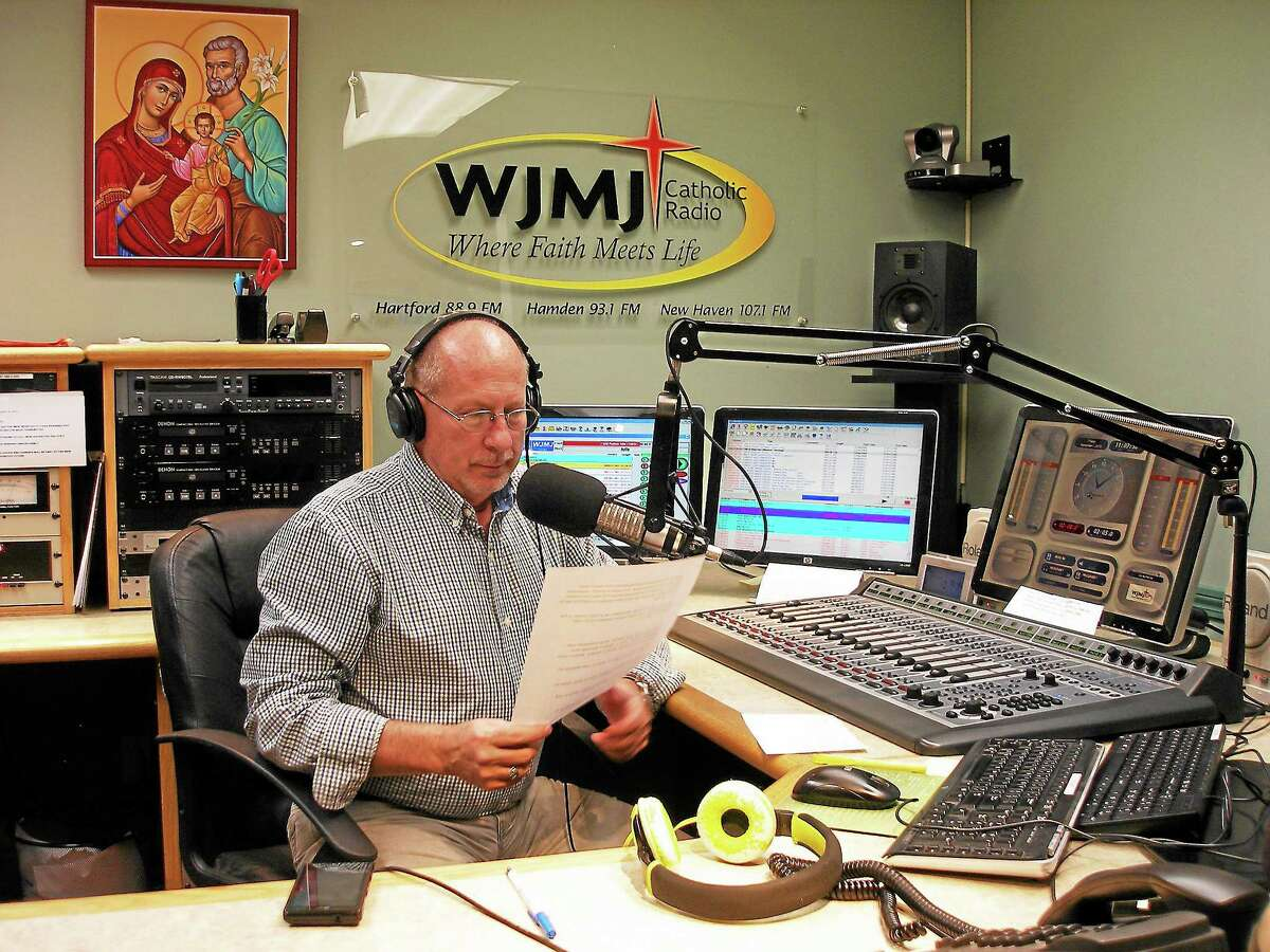 Contributed photo Jerry Kristafer at WJMJ-FM's studios in Glastonbury.