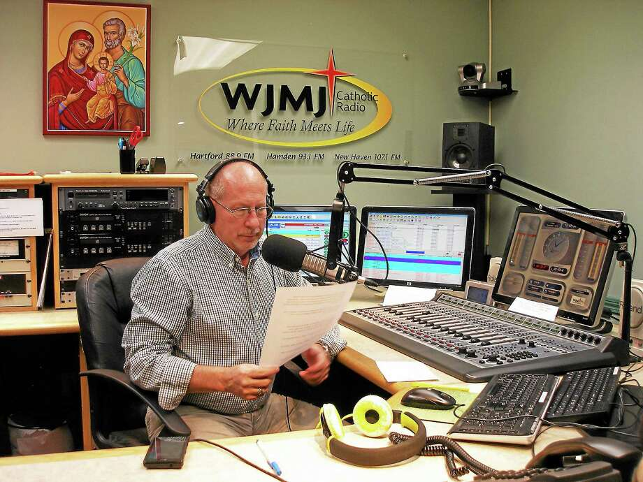 Contributed photo Jerry Kristafer at WJMJ-FM's studios in Glastonbury. Photo: Journal Register Co.