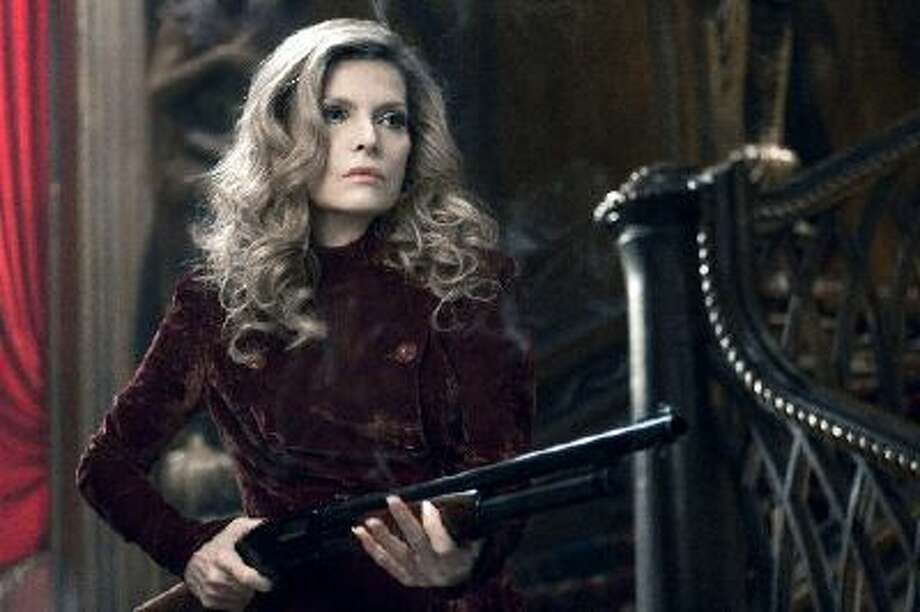 "Michelle Pfeiffer portrays Elizabeth Collins Stoddard in a scene from ""Dark Shadows."""