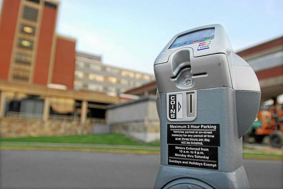 A parking meter on Crescent Street in Middletown. Photo: Middletown Press File Photo