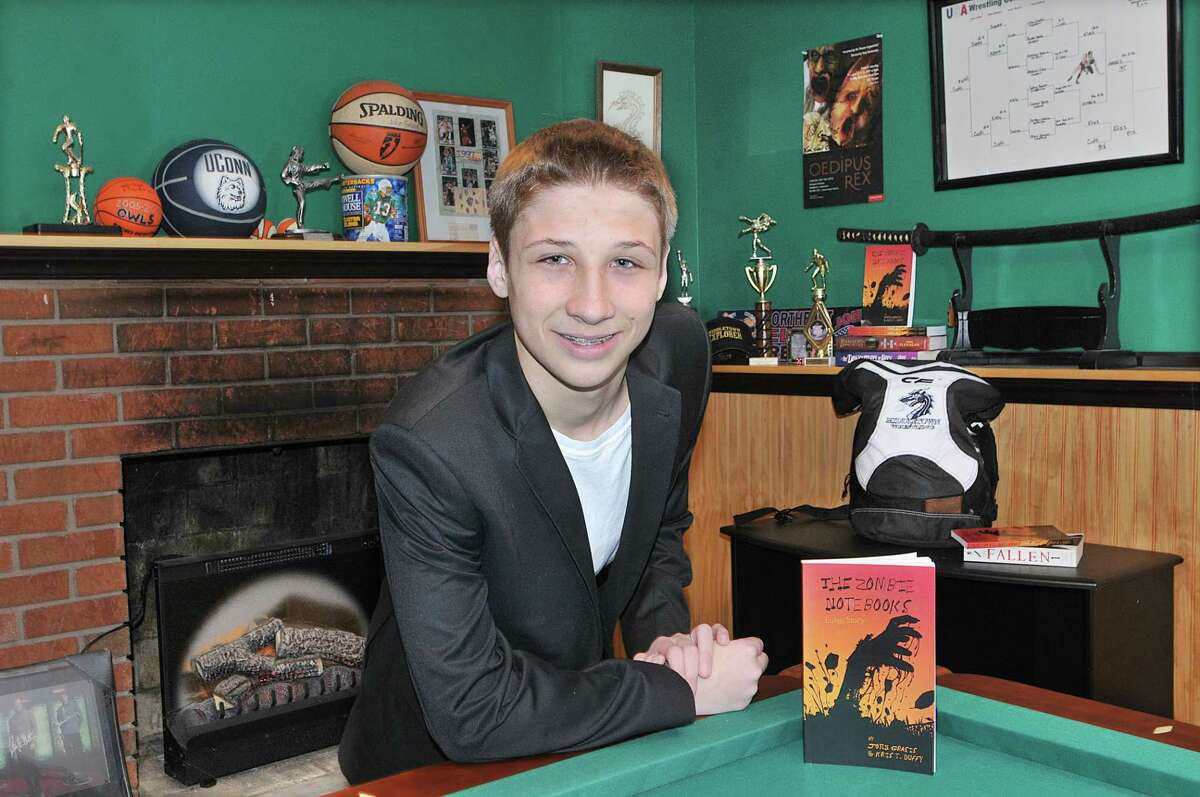 Fourteen-year-old Middletown resident John Grasis, a freshman at Middletown High School completed his first book,