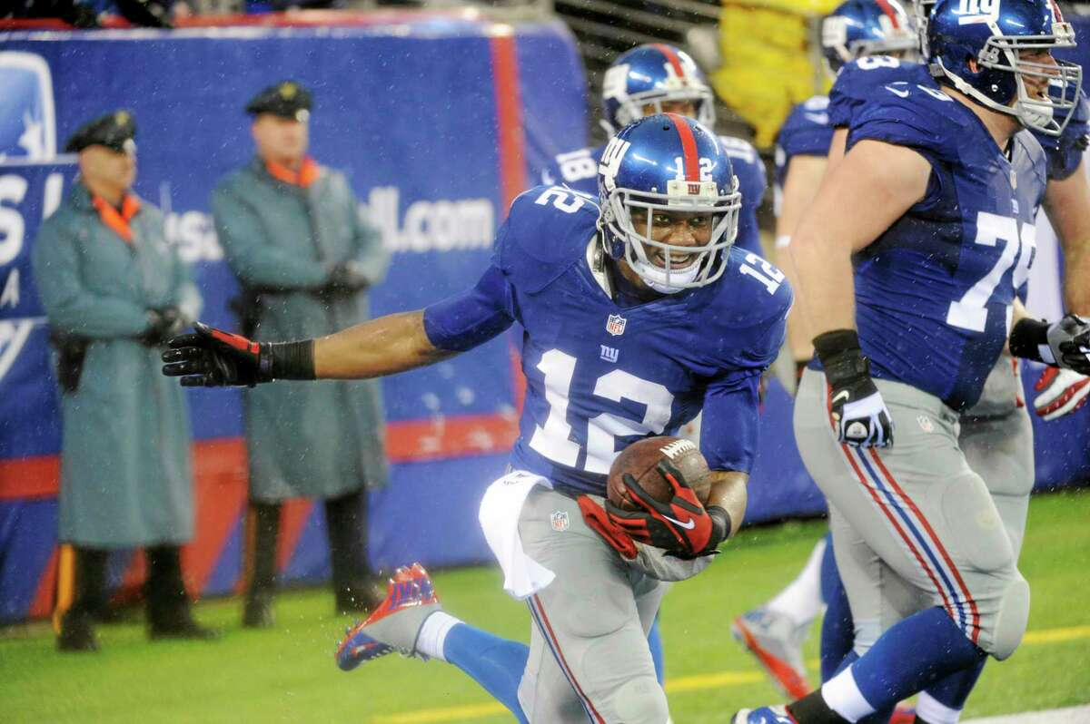 Giants wide receiver Jerrel Jernigan celebrates a touchdown with teammates during the second half of Sunday's game against the Redskins.
