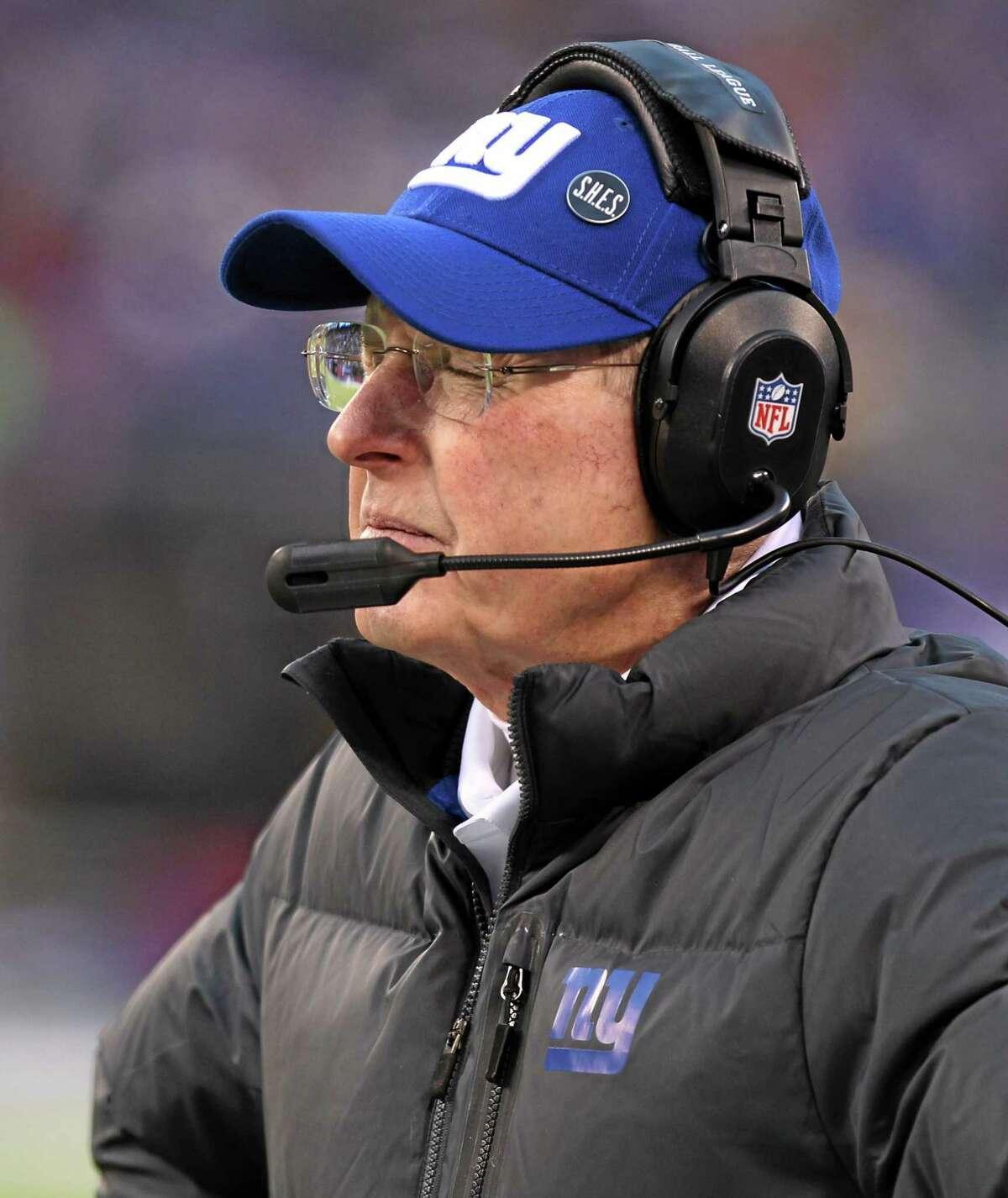Giants head coach Tom Coughlin.