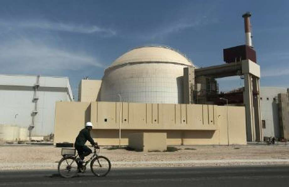 A nuclear power plant is shown in Bushehr, Iran, in 2010.