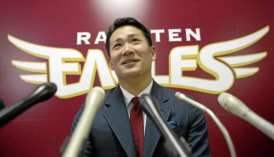 Rakuten Golden Eagles pitcher Masahiro Tanaka. Photo: Kyodo News — The Associated Press  / Kyodo News