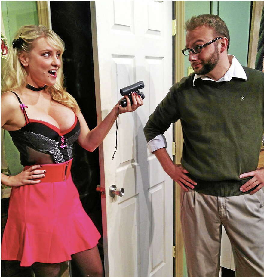 """Submitted photos - CT Cabaret Meet Chris Brooksí Felix and Meagan Bomarís Doris, who spar with each other verbally, sparks and four letter words flying, from the moment they collide in """"The Owl and the Pussycat."""" Photo: Journal Register Co."""