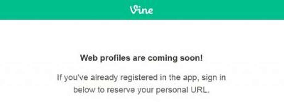 A screenshot of the Vine Profiles page promoting customized profiles.
