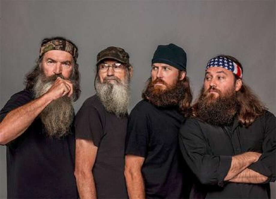 Phil, Si, Jase and Willie Robertson in A&E's 'Duck Dynasty.'