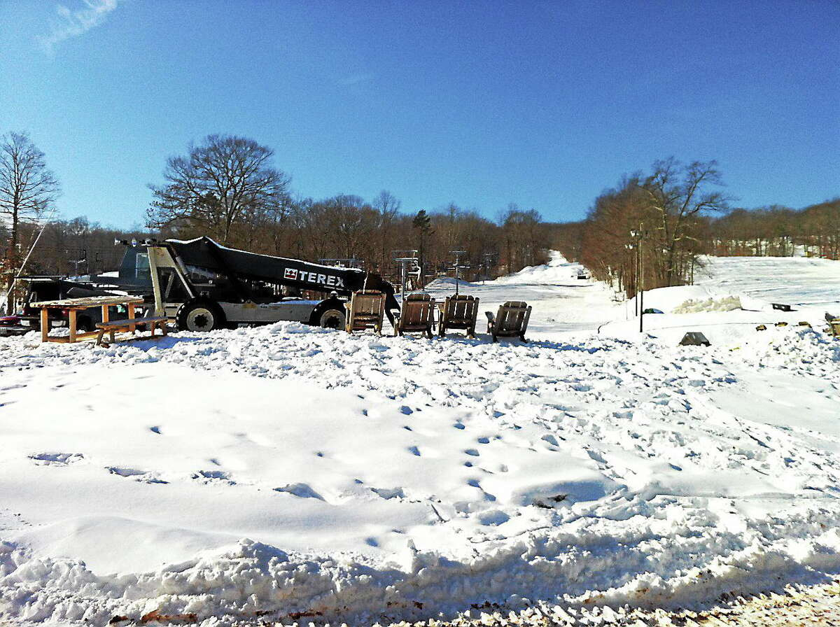 Viktoria Sundqvist - The Middletown Press Construction continues at Powder Ridge in Middlefield.