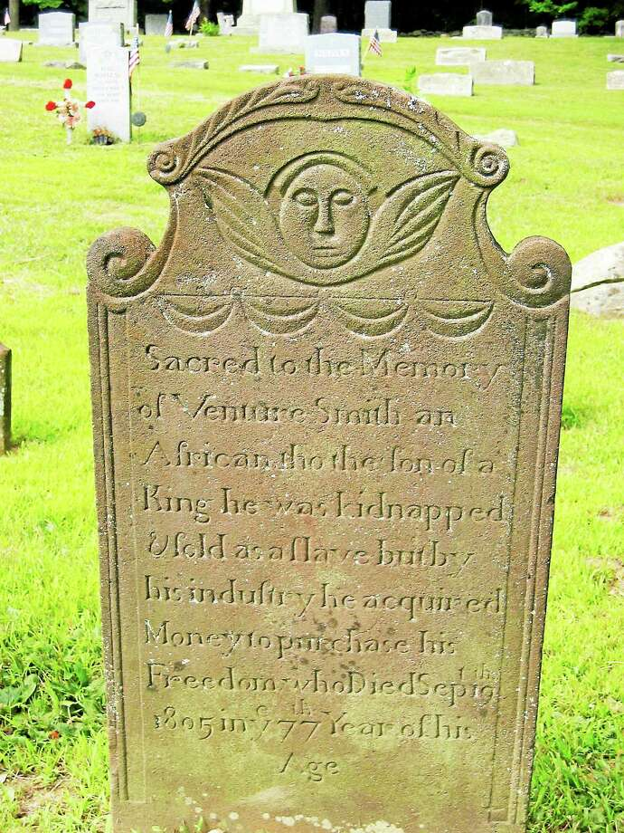 Submitted photo - Chatham Historical Society The grave of Venture Smith, who will be the topic of a visual arts program in January. Photo: Journal Register Co.