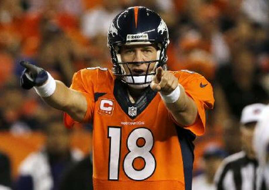 Peyton Manning, shown here, isn't Vegas' favorite to win the Super Bowl.