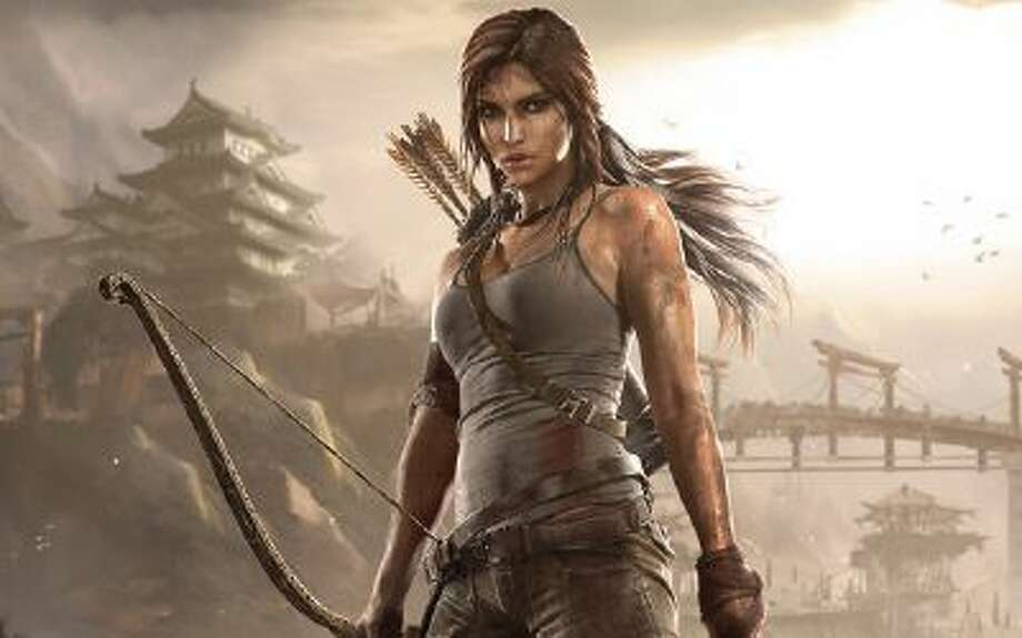 "Lara Croft from the new remake of ""Tomb Raider."""