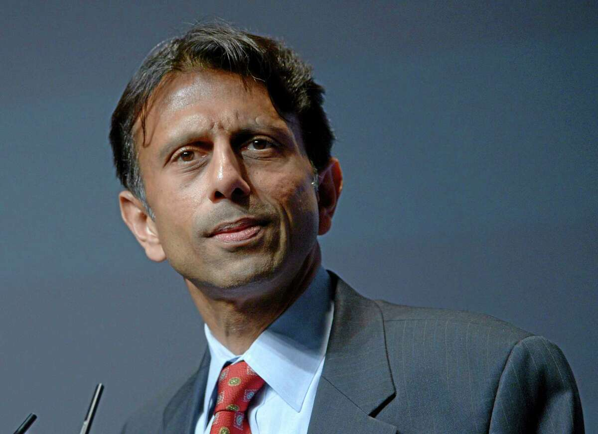 FILE - In this Aug.30, 2013 file photo, Louisiana Gov. Bobby Jindal speaks in Orlando, Fla. To say that new academic standards have yielded strange bedfellows would be an understatement. Republican-on-Republican infighting? Teacher unions linking arms with tea partyers? President Barack Obama working in tandem with the U.S. Chamber of Commerce and energy giant Exxon? When it comes to Common Core, forget the old allegiances. Traditionally Democratic-leaning groups don't like the standardized tests and are finding allies among small-government conservatives. The Obama administration wants more students leaving high school ready for college courses or their first jobs, a goal shared by big corporations. (AP Photo/Phelan M. Ebenhack, File)