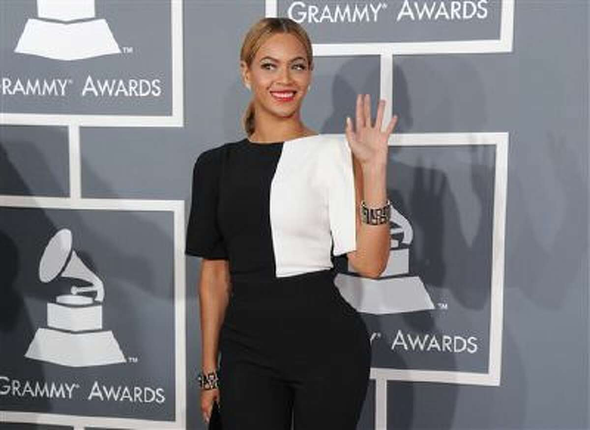 This Feb. 10, 2013 file photo shows Beyonce at the 55th annual Grammy Awards in Los Angeles.