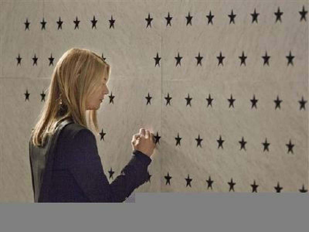 This image released by Showtime shows Claire Danes as Carrie Mathison in a scene from the season finale of