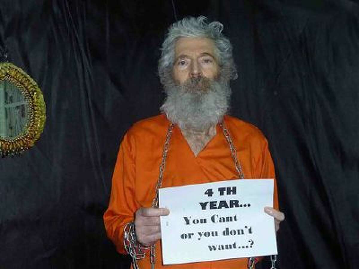 Robert Levinson in a photo received by his family in April 2011.