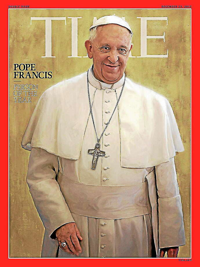 Pope Francis was named Time magazine's Person of the Year for 2013. Photo: Journal Register Co.