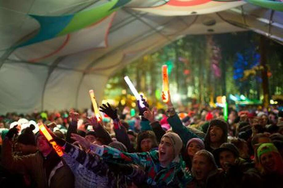 Concertgoers at the SnowGlobe Music Festival at New Year's in South Lake Tahoe. Photo: Cinethetics / helen@liveloudco.com
