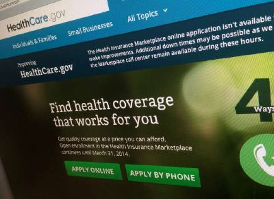 The HealthCare.gov website. People continue to sign up for health insurance via the website, but not as many as the government had hoped.