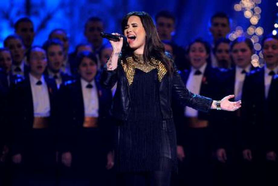 Singer Demi Lovato performs onstage during TNT Christmas in Washington 2012 at National Building Museum on December 9, 2012 in Washington, DC. Photo: WireImage / 2012 WireImage