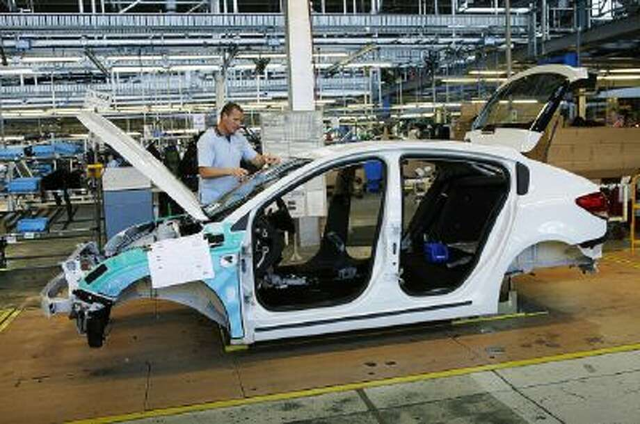 This hand out photo supplied by General Motors shows Holden Cruze hatch manufacturing in Australia.