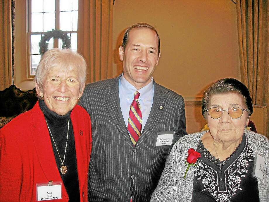 At the recent Nutmeg Big Brothers Big Sisters' Foster Grandparent Program Recognition Luncheon are, from left, Edith G. Prague, commissioner of Connecticut's Department on Aging; Andy Fleischmann, president and CEO of Nutmeg Big Brothers Big Sisters; and Lucille Ruggiero, Middletown resident and winner of the 2013 Foster Grandparent of the Year Award. Photo: Submitted Photo