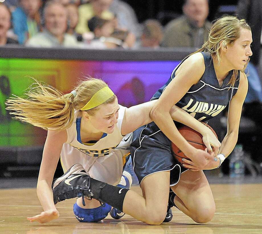 Mercy junior point guard Kendra Landy in the Class LL 2013 State Championship game at Mohegan Sun. Photo: Catherine Avalone — The Middletown Press  / TheMiddletownPress