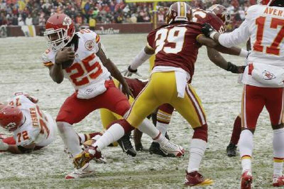 Jamaal Charles scores a touchdown against the Redskins during the Chiefs' 45-10 win.