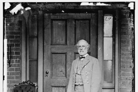 In this image from the U.S. Library of Congress, Confederate Gen. Robert E. Lee stands for a portrait April 16, 1865 in Richmond, Virginia. (Photo by Mathew Brady/U.S. Library of Congress via Getty Images)