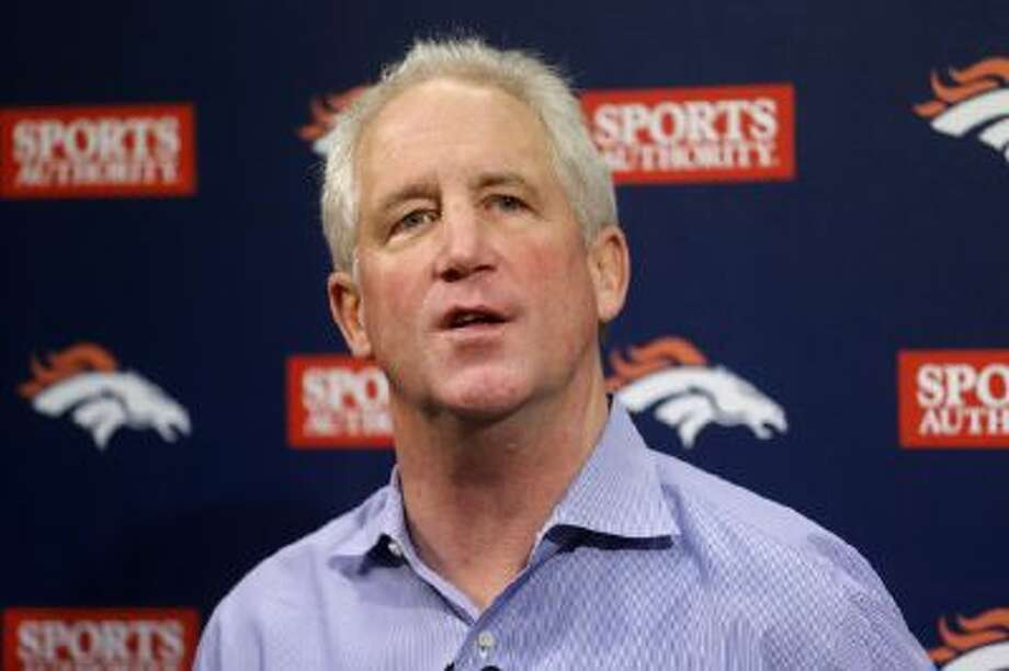 Denver Broncos head football coach John Fox speaks at a news conference at the NFL team's headquarters in Englewood, Colo., on Monday, Dec. 2, 2013.