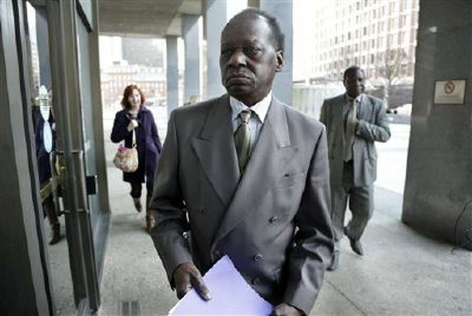 Onyango Obama, President Barack Obama's Kenyan-born uncle, arrives at U.S. Immigration Court for a deportation hearing Dec. 3 in Boston. Photo: AP / AP