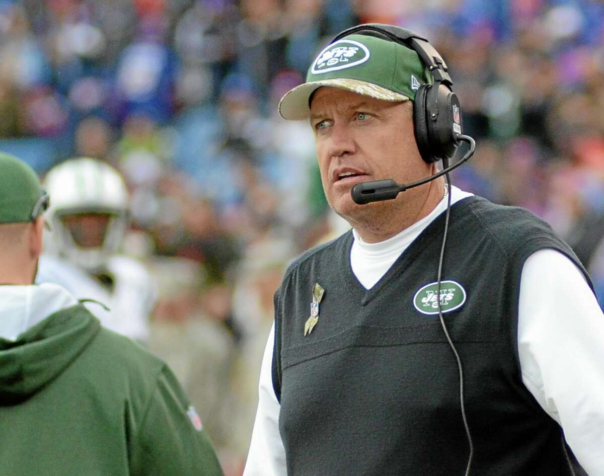 New York Jets head coach Rex Ryan walks on the sidelines during the Nov. 17 game against the Buffalo Bills in Orchard Park, N.Y.
