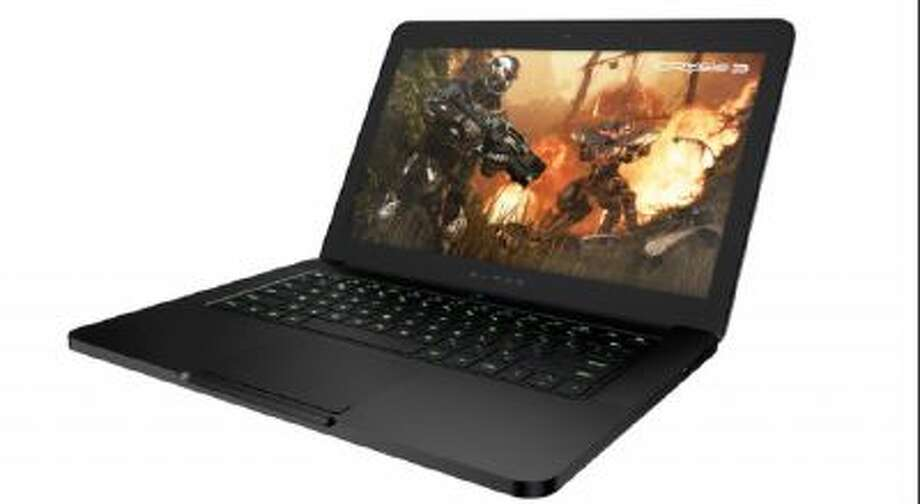 The Razer Blade PC laptop computer.