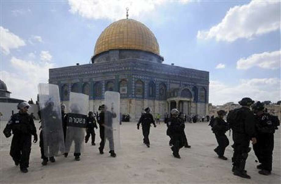 The Dome of the Rock mosque sits atop the Temple Mount in Jerusalem. Photo: AP / 2012 AP