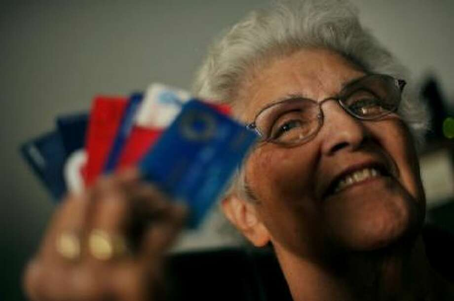Alice Deanda, 73, has scored dozens of free airline trips through her careful use of credit-card rewards programs.
