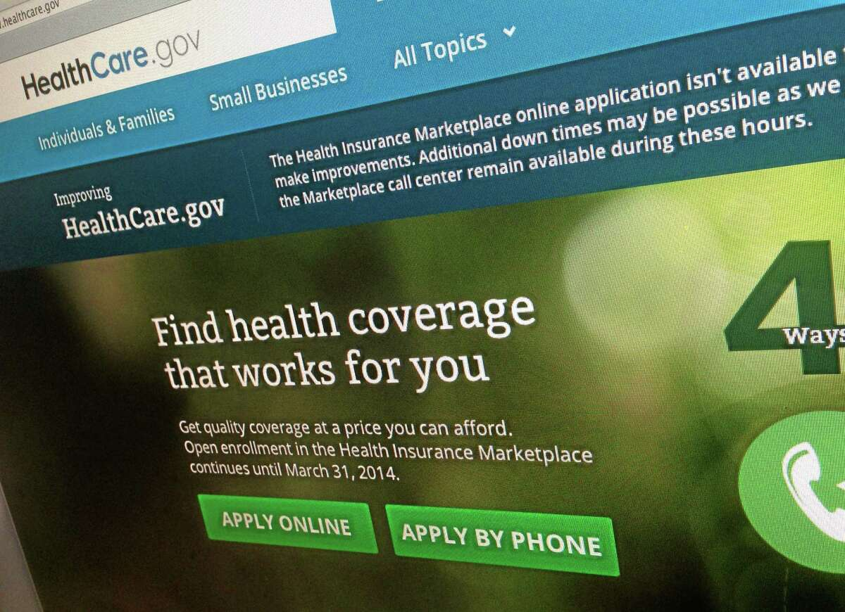 This photo of part of the HealthCare.gov website is photographed in Washington, on Nov. 29, 2013. The beleaguered health insurance website has had periods of down times as as the government tries to fix the problems.