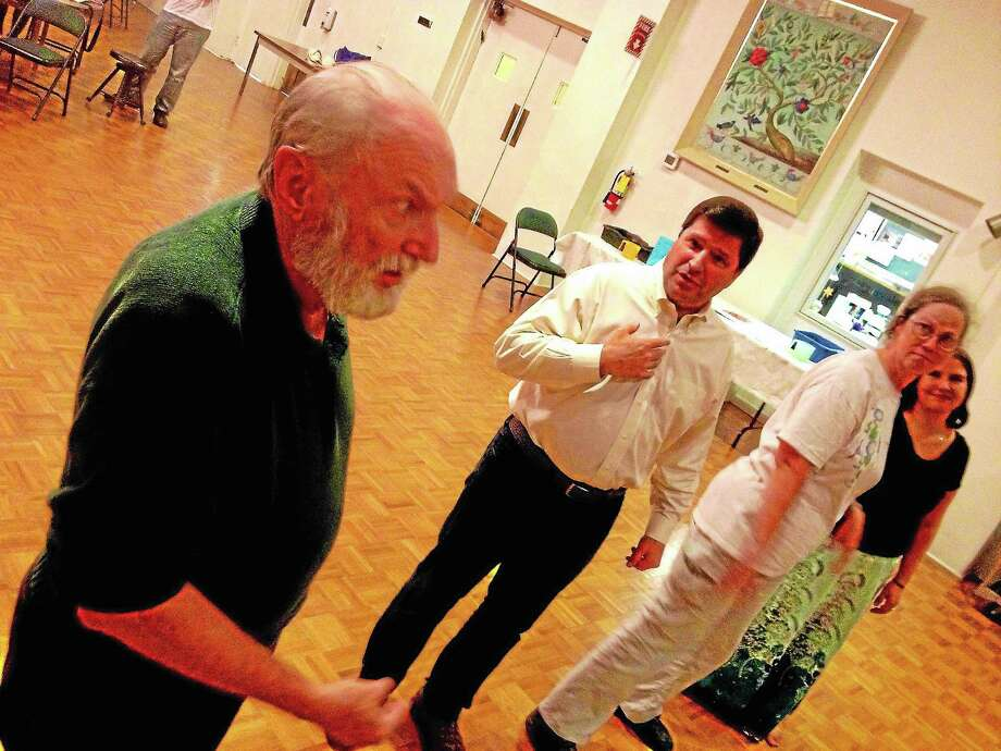 Actors of the Connecticut Gilbert and Sullivan Society rehearse The Yeomen of the Guard in preparation for their October performance. Photo: Alex Gecan — The Middletown Press