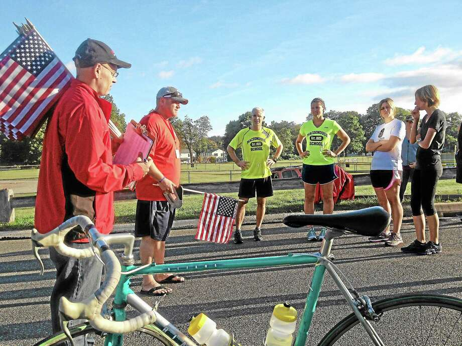 The fourth annual Run for the Fallen CT, held Saturday at Wilbert Snow Elementary School in Middletown, honored all servicemen and women who have lost their lives during their service in Operation Enduring Freedom and Operation Iraqi Freedom. Photo: Alex Gecan — The Middletown Press