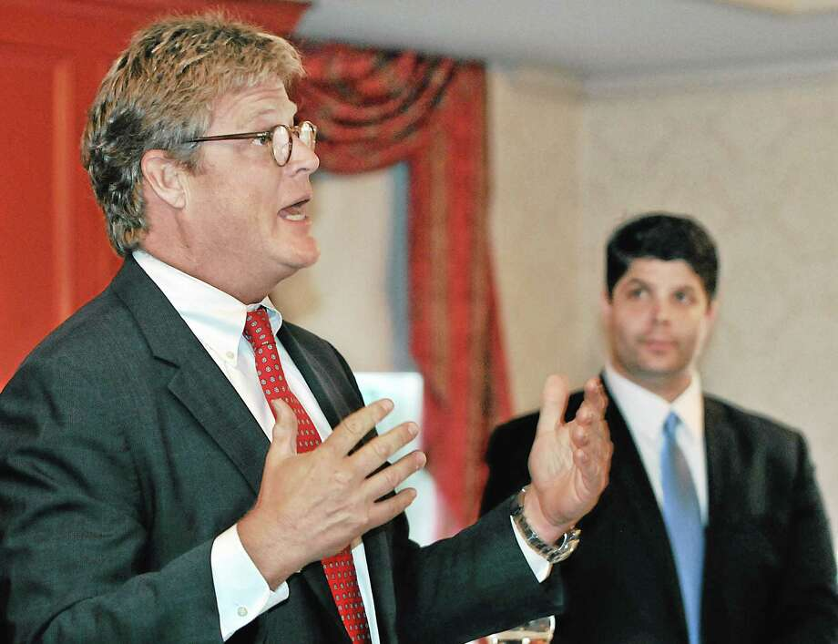 Branford resident Ted Kennedy Jr. speaks at a fund-raising event for Mayor Dan Drew at the Inn at Middletown Tuesday evening. Photo: Catherine Avalone - The Middletown Press  / TheMiddletownPress