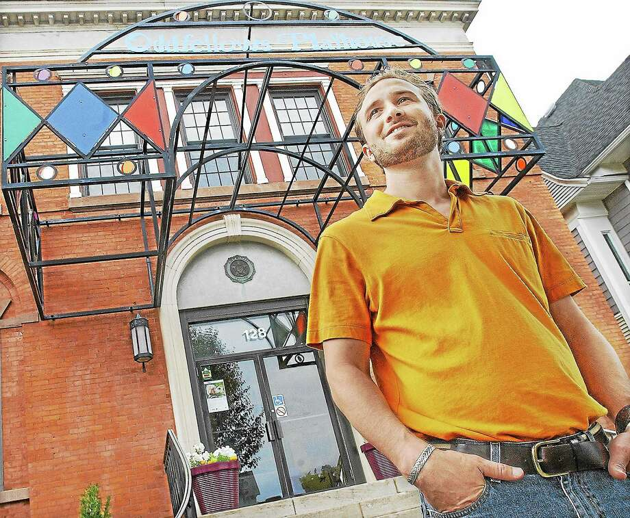 Matt Pugliese has stepped down as the director of the Oddfellows Playhouse in Middletown after five years to take a job at UConn. Pugliese began as the managing director of the youth theater in 2008 and became the executive director in 2011. Photo: Catherine Avalone - The Middletown Press