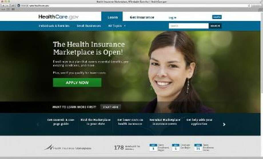 This photo provided by HHS shows the main landing web page for HealthCare.gov.