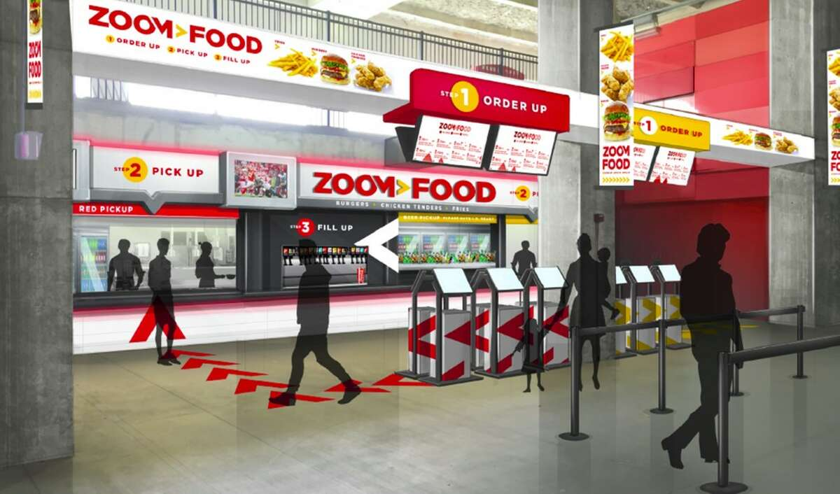 Zoom Food (Arrowhead Stadium): The next step in the evolution of stadium food and beverage service, featuring customer-facing, self-ordering kiosks.