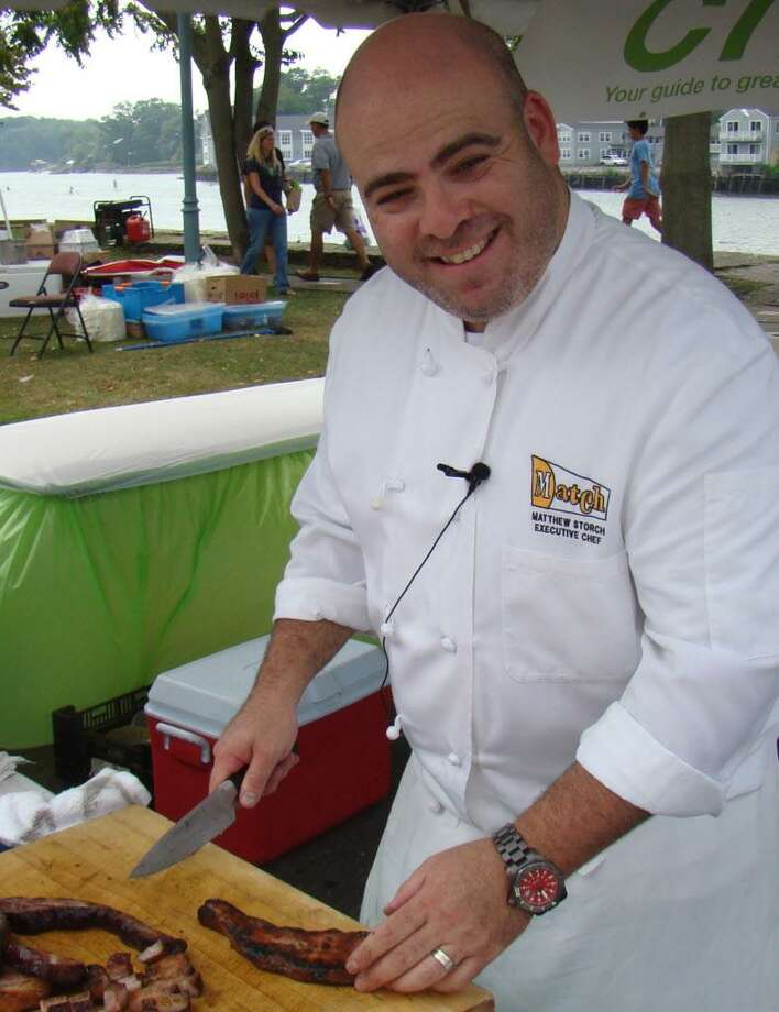 Matt Storch from Match Restaurant, seen grilling pork belly at last yearís BBQm will be back at this year's event. Photo: Contributed Photo / Contributed Photo / westport news
