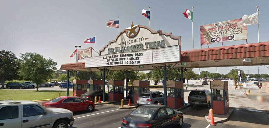 Six Flags Over Texas will not remove a Confederate flag its flown at the park since it opened in 1961. See where other Confederate icons are standing (or flying) in the Lone Star State. Photo: Google Maps