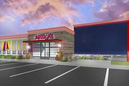 An arftist's rendering of an Arooga's sports bar planned for Shelton.