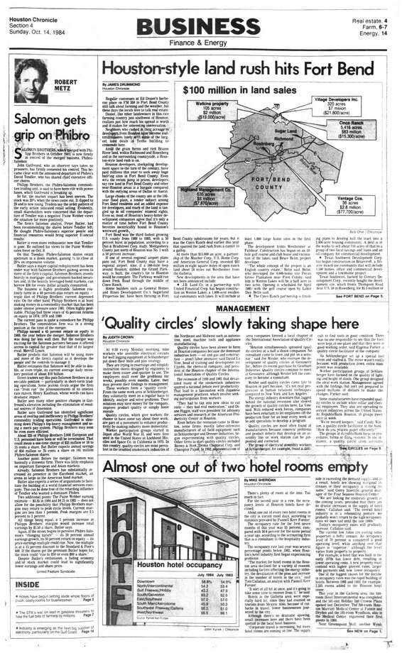 Houston Chronicle inside page - October 14, 1984 - section 4, page 1. Houston-style land rush hits Fort Bend. Photo: HC Staff / Houston Chronicle