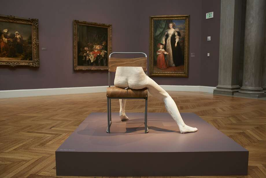 """Sarah Lucas, """"Pauline"""" (2015), installed at the Legion of Honor through Sept. 17. Photo: Courtesy Fine Arts Museums Of San Francisco"""