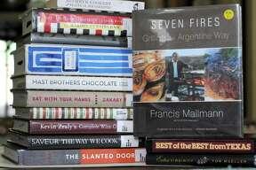 Stash of cookbooks from the San Antonio Public Library's BookCellar.