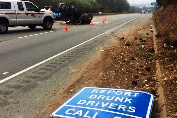 "The driver, identified by the CHP as Stephen DeWitt, 57, of Aptos, was ""quite intoxicated,"" one officer said."